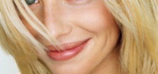 Closeup portrait of a smiling blond woman